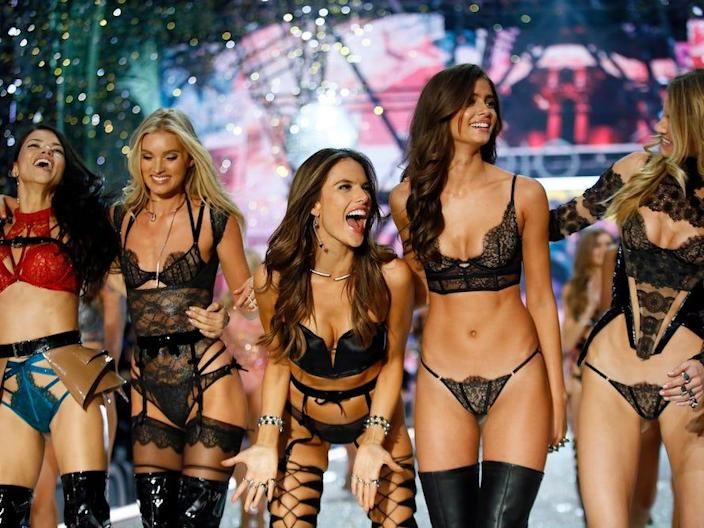 Victoria's Secret Angels at one of the brand's annual fashion shows.