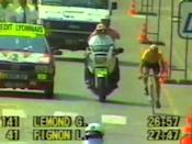 "<p>It all came down to the final time trial of the 1989 Tour de France, when Greg LeMond beat Laurent Fignon by 8 seconds for the overall win—and the narrowest Tour victory ever. </p><p><a href=""https://www.youtube.com/watch?v=Zzjv1XpGJnc"" rel=""nofollow noopener"" target=""_blank"" data-ylk=""slk:See the original post on Youtube"" class=""link rapid-noclick-resp"">See the original post on Youtube</a></p>"