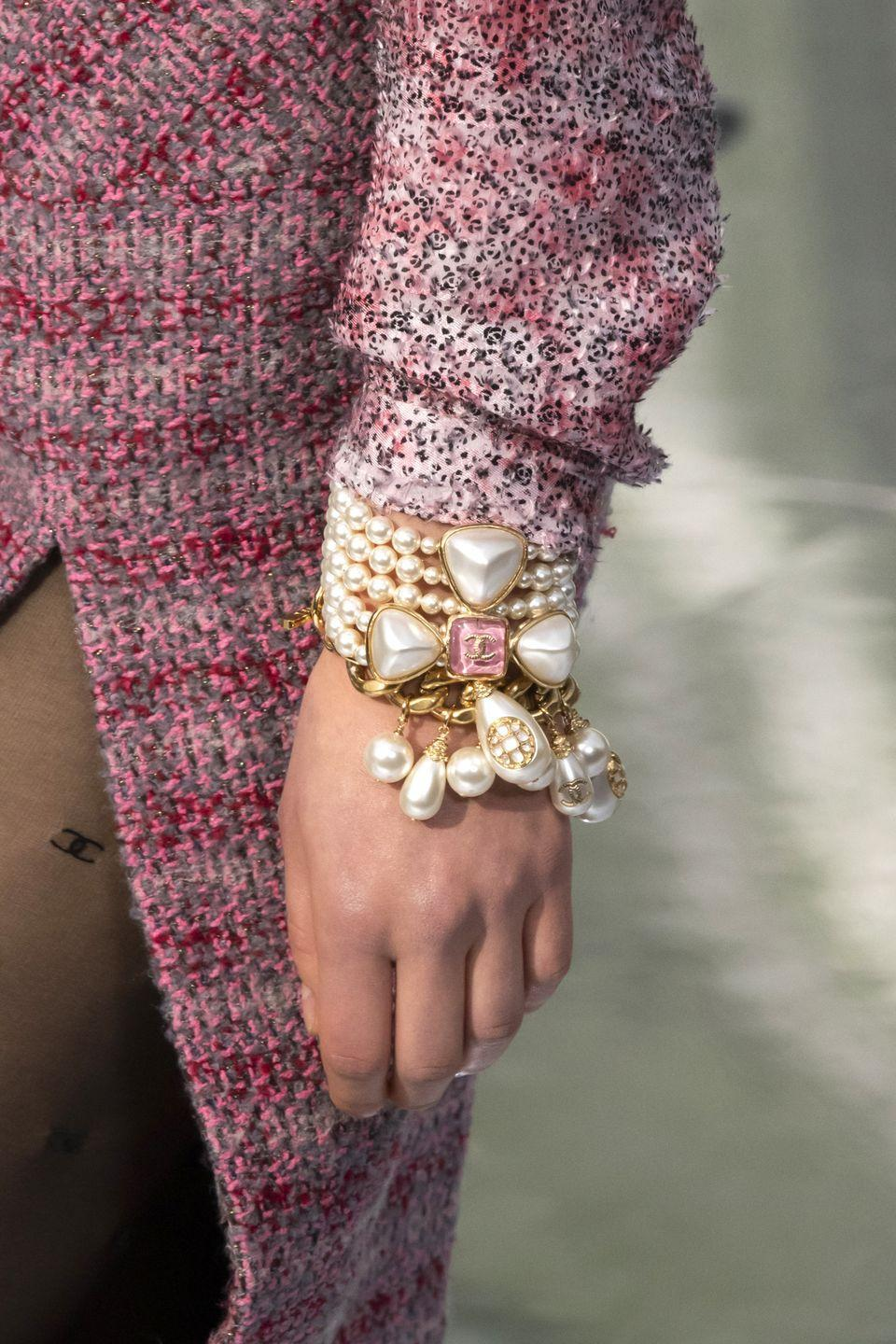 <p>Classic pearls with a pop of gold look even more luxe. </p><p><em>Chanel</em> </p>