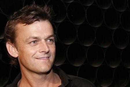 Australian cricketer Adam Gilchrist is seen at the venue of Wills Lifestyle India Fashion Week in New Delhi