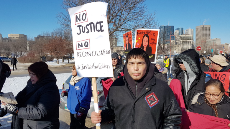 'This is love for Tina': Crowd marches for change in honour of Tina Fontaine in Winnipeg