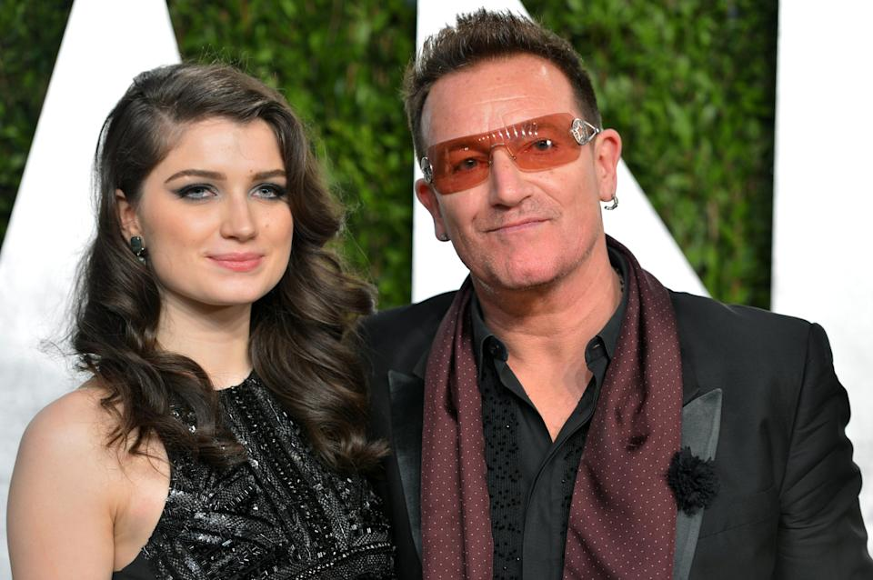 Eve Hewson and her father, Bono. Image via Getty Images.