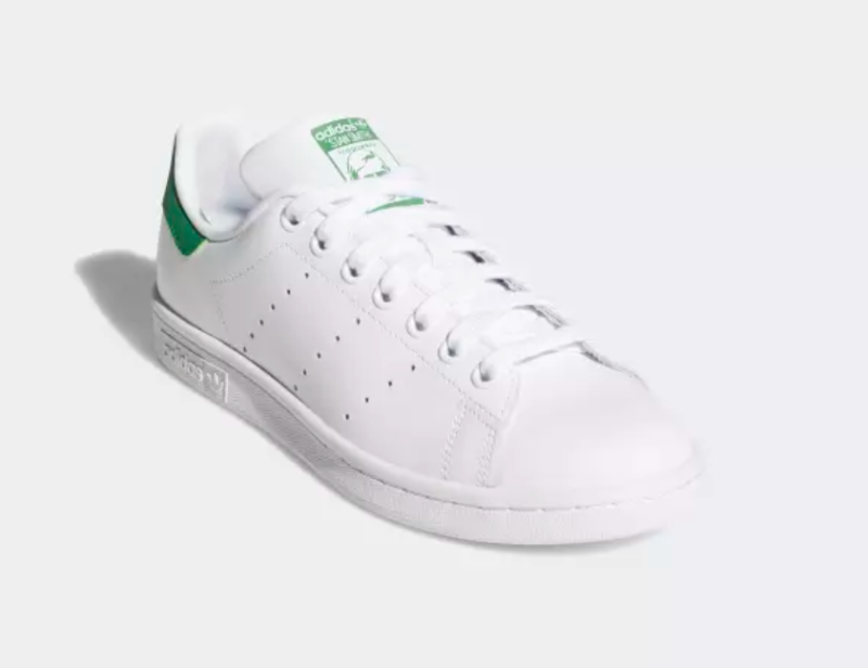 adidas Women's Stan Smith Originals in Cloud White and Green
