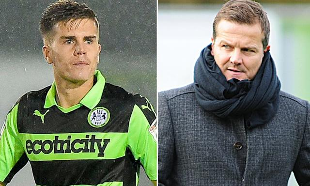 Charlie Cooper and Mark Cooper, who were both sent off in Forest Green's defeat to Wycombe.