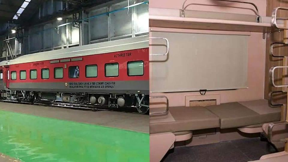 Indian Railways rolls out first AC 3-tier economy class coach