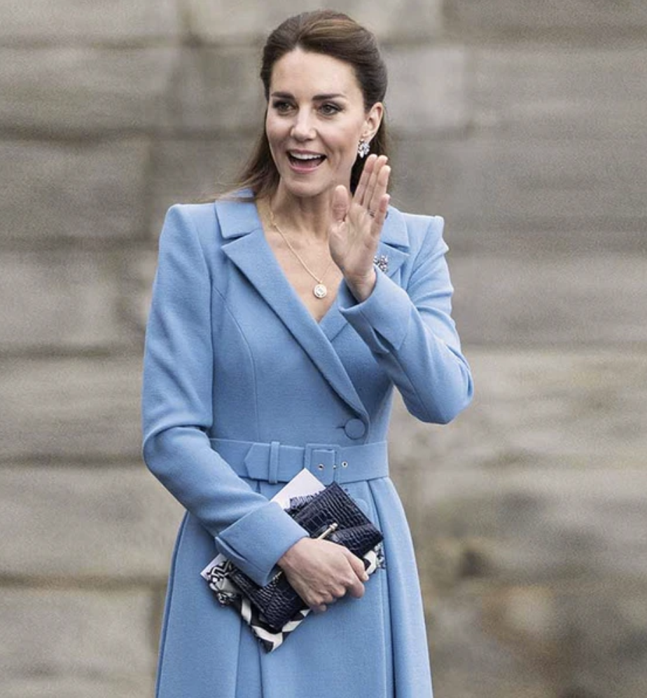 PHOTO: Strathberry. Kate Middleton carrying a Strathberry