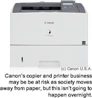 The copier and printer business may be slowly sliding into obscurity as society moves away from paper and toward screen-based technology, but this isn't going to happen overnight.