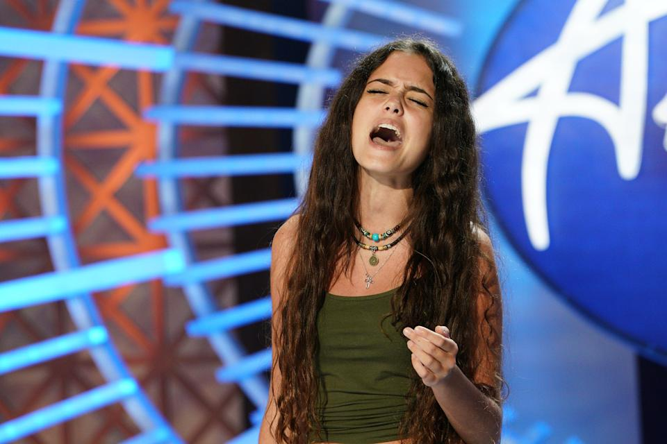 Casey Bishop on 'American Idol.' (Photo: Christopher Willard via Getty Images)