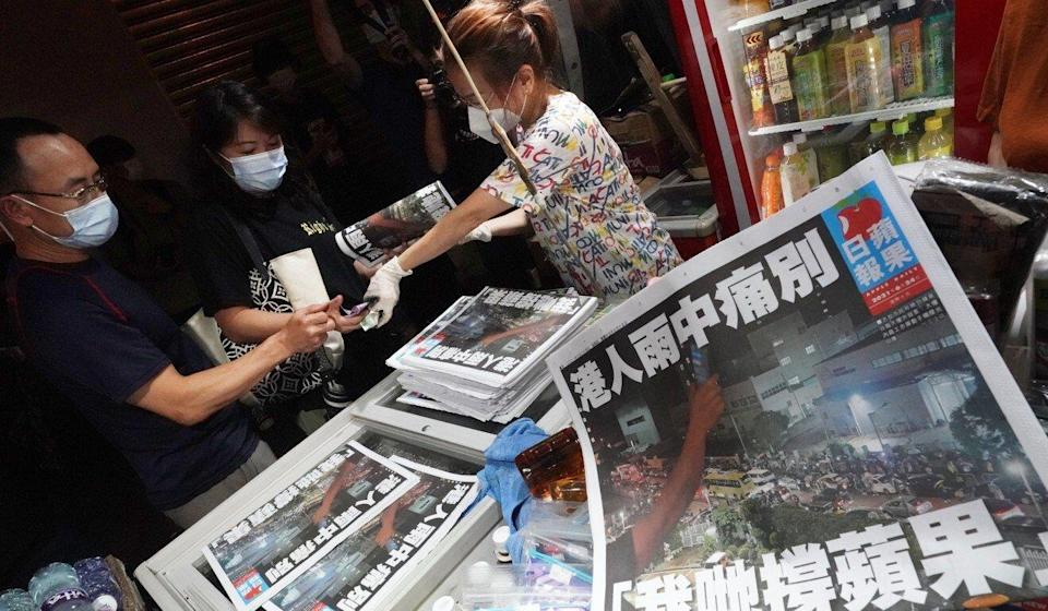 The closure of Apple Daily followed the arrest of its owner and senior editors. Photo: Felix Wong