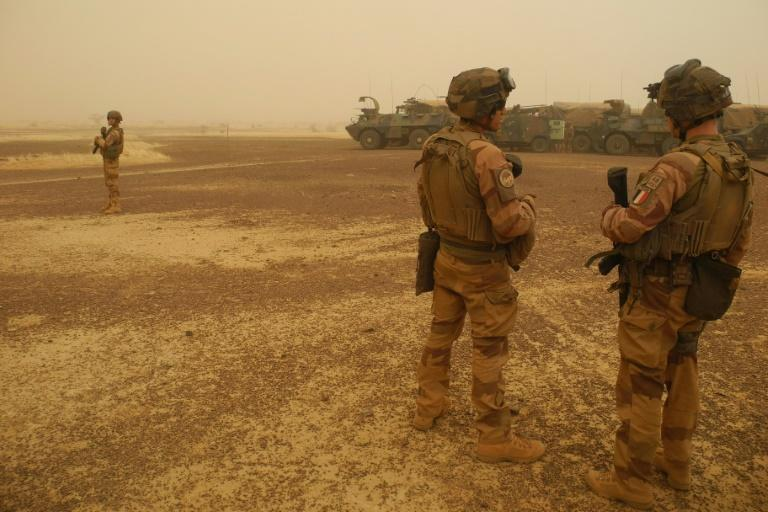 French soldiers in Mali, where the second coup in less than a year has sparked widespread uproar