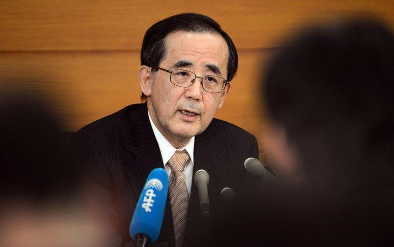 Masaaki Shirakawa, the Bank of Japan's outgoing governor, is pictured at a press conference in Tokyo on March 7, 2013