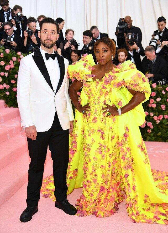 Alexis Ohanian and Serena Williams at the 2019 Met Gala