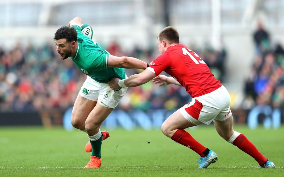 Robbie Henshaw in action for Ireland - GETTY IMAGES