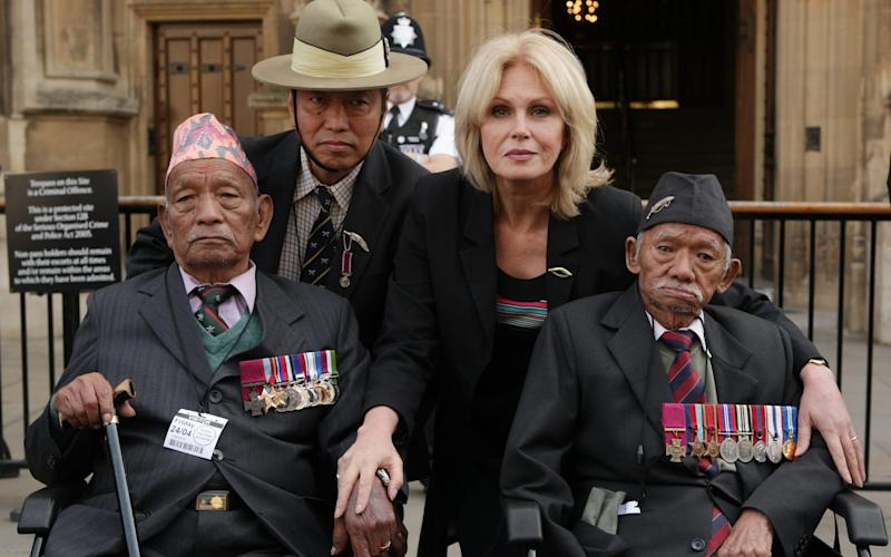 Joanna Lumley has supported charitable causes before, including retired Gurkhas - Oli Scarff