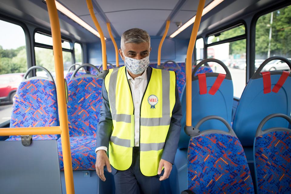 Mayor of London Sadiq Khan has asked TfL to keep its mask requirement in place after July 19 (PA Wire)