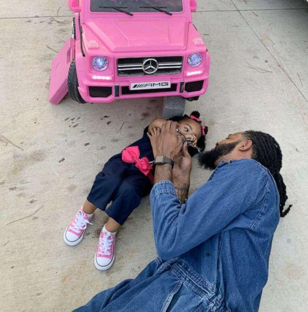 PHOTO: Devante Bennett-Dotson of Anderson, S.C., poses with his daughter, Londyn Bennett-Dotson, 2, in honor of their birthdays, which are one day apart. (Courtesy Ashleigh Sheppard)
