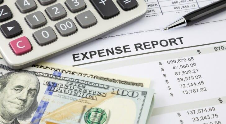 An expense report