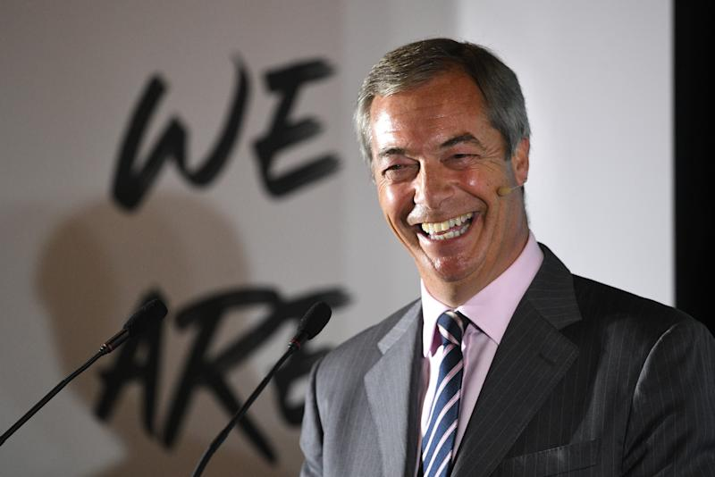 The Brexit Party, led by Nigel Farage, have taken control of Hartlepool council (PA Images)