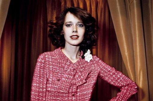 """Dutch actress and model Sylvia Kristel displaying a Chanel creation, in 1976. Kristel, who starred in the cult erotic """"Emmanuelle"""" films, was laid to rest after a """"stylish and beautiful"""" ceremony in her birthplace Utrecht, her agency said"""