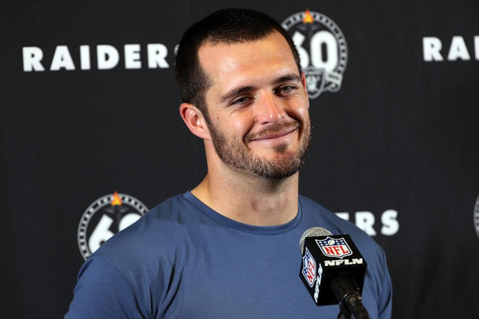 Derek Carr with the Raiders.