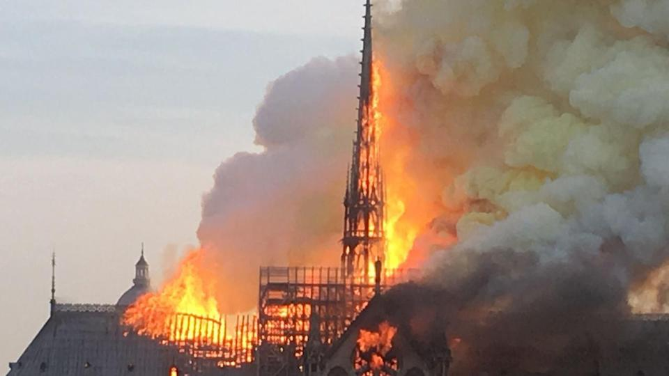 Politicians are united in sorrow over the blaze that has devastated Notre Dame Cathedral in Paris