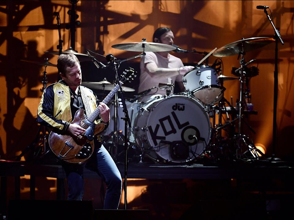 Kings of Leon performing at the MTV Europe Awards in 2016Getty