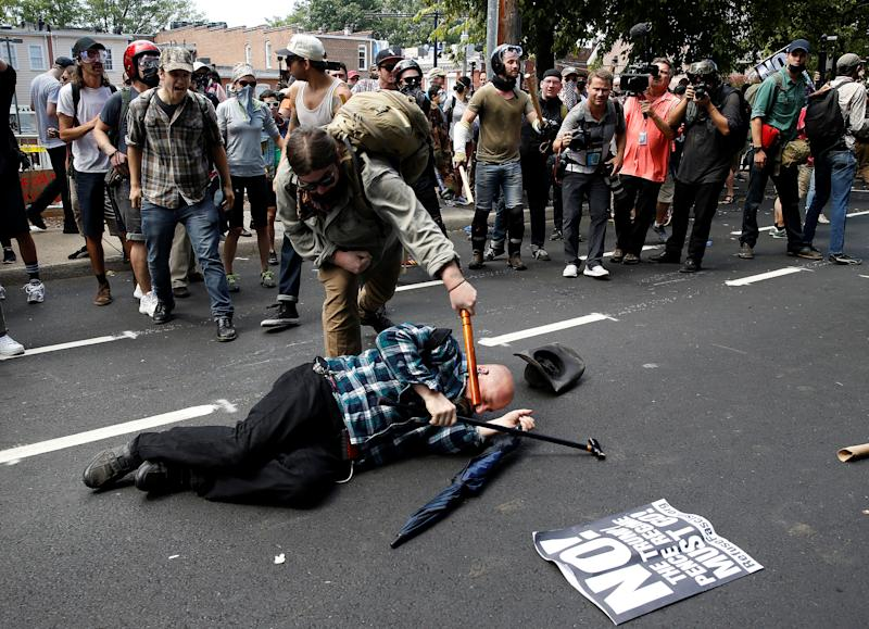 Anti-Fascist Protesters Fall Into Neo-Nazis' Trap by Confronting Them