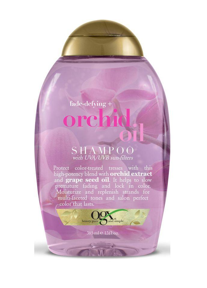 "<p><strong>OGX</strong></p><p>ulta.com</p><p><strong>$7.99</strong></p><p><a href=""https://www.ulta.com/orchid-oil-shampoo?productId=xlsImpprod14071328"" target=""_blank"">Shop Now</a></p><p>This formula from OGX (with the matching <a href=""https://www.ulta.com/orchid-oil-conditioner?productId=xlsImpprod14071322"" target=""_blank"">conditioner</a>) came in as a close second in Lab tests. It<strong> earned high marks for conditioning and color retention</strong>, and testers said it left hair shiny.""I loved the scent of both shampoo and conditioner,"" said one. ""The shampoo lathered very easily and seemed to make my color last longer.""</p>"