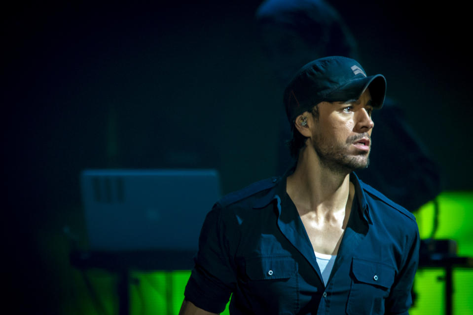 Enrique Iglesias has shared a picture of himself with his twins. (Photo by Francesco Prandoni/Getty Images)