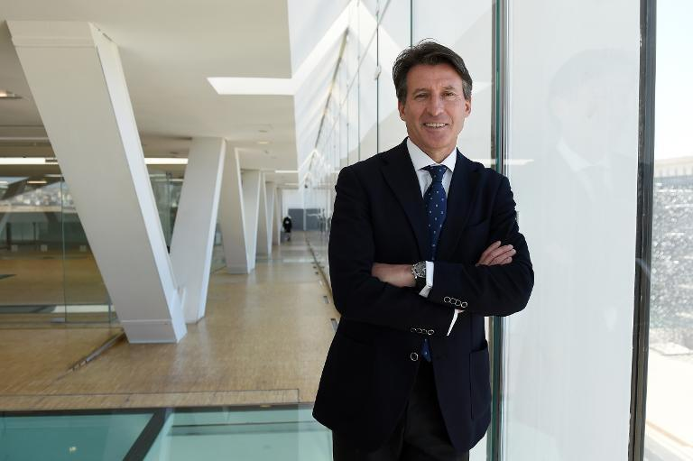 Britain's Sebastian Coe, double Olympic 1500m champion, and candidate for President of the International Association of Athletics Federations poses, on February 25, 2015, in Marseille (AFP Photo/Anne-Christine Poujoulat)