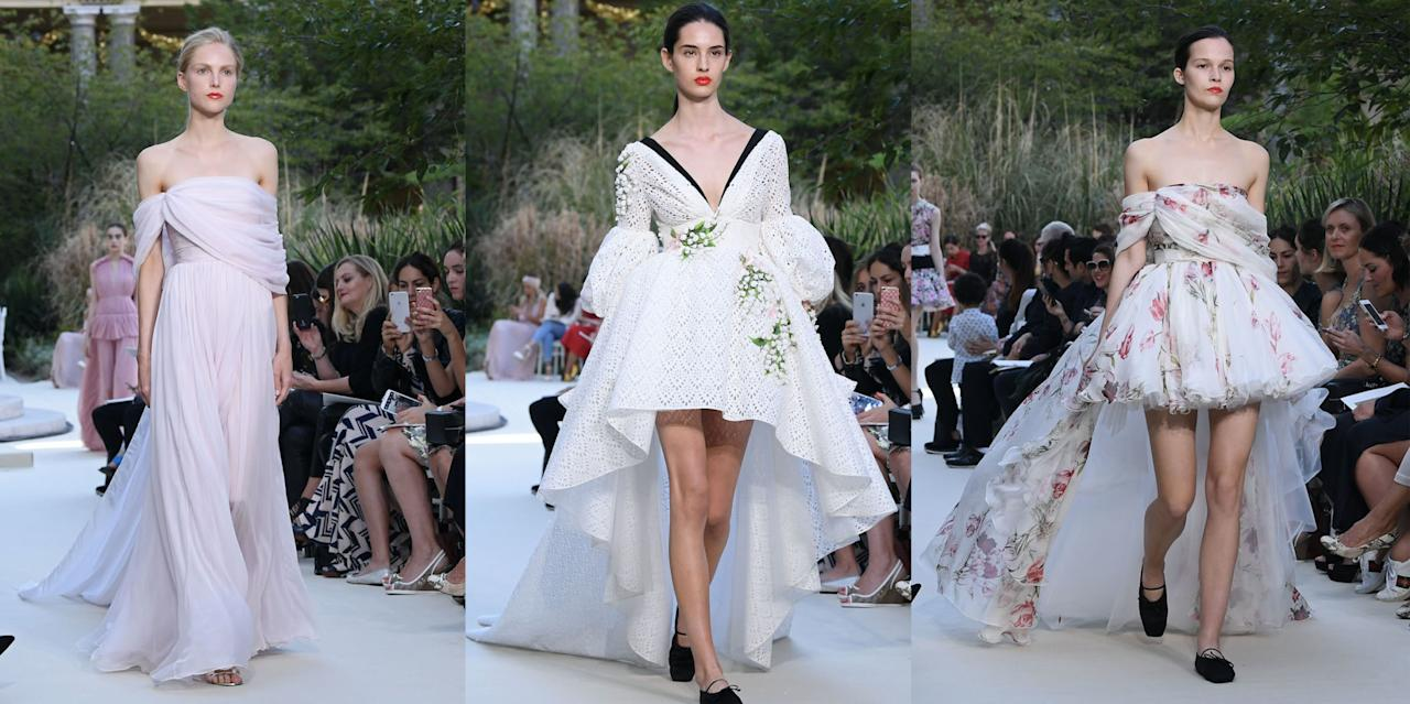 <p>From tulle gowns, to sequinned florals, to delicately draped chiffon, the Giambattista Valli Haute Couture Show in Paris was a cacophony<span> of beauty. Here are the best looks from the runway.</span></p>