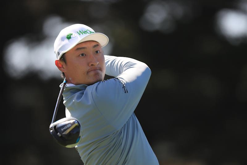 Haotong Li at the PGA Championship