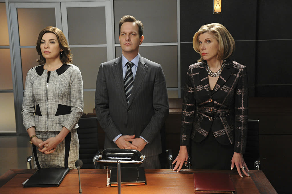 """""""What's in the Box?"""" -- On the eve of the gubernatorial election, Alicia (Julianna Margulies), Will (Josh Charles) and Diane (Christine Baranski) find themselves in a series of emergency court proceedings when the validity of crucial ballots is called into question, on """"The Good Wife."""""""