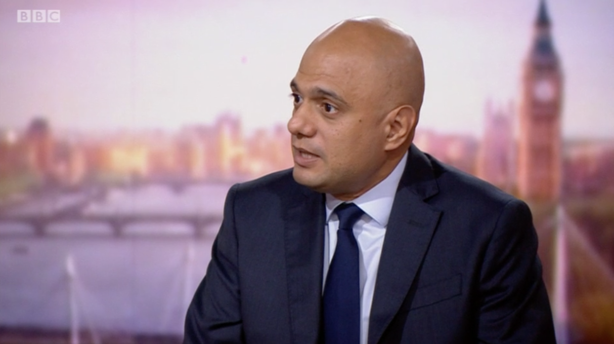 Sajid Javid talks about the possibility of future lockdowns on The Andrew Marr Show. (BBC)