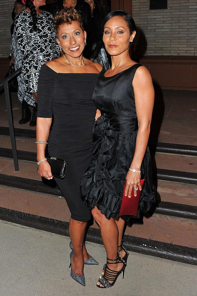 Adrienne Banfield-Jones, left, and Jada Pinkett Smith