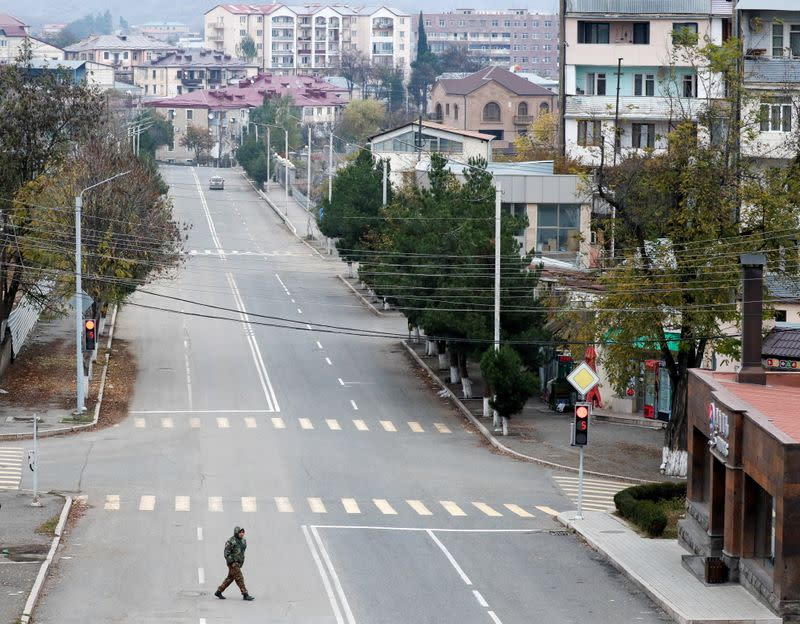 Daily life after ceasefire deal in Stepanakert in the region of Nagorno-Karabakh
