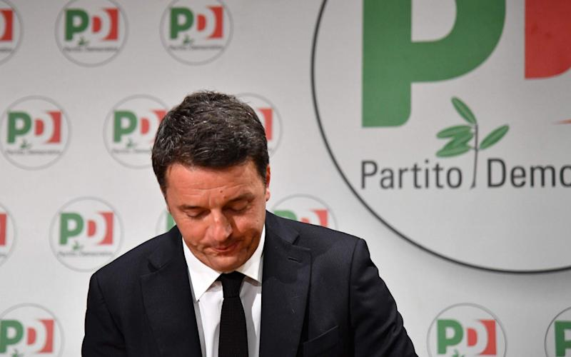 Former Prime Minister and leader of the Democratic Party (PD), Matteo Renzi, is trying to reunite the Italian Left - AFP
