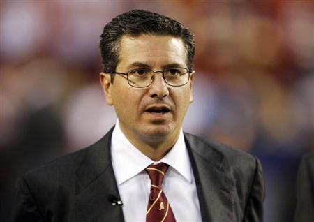 Washington Redskins team owner Dan Snyder is pictured before the Washington Redskins vs Dallas Cowboys NFL football game in Landover, Maryland, September 12, 2010. REUTERS/Jason Reed