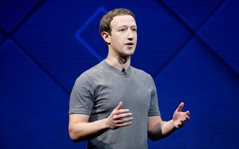 Mark Zuckerberg speaking at Facebook's F8 conference in 2017 - REUTERS