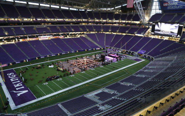 U.S. Bank Stadium in Minneapolis is the site of Super Bowl LII. The ticket market for that game could get red-hot if the Vikings win the NFC. (AP)