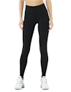 "<p><strong>Key selling points:</strong> The first word to come to mind with the Airbrush legging is ""compression."" The material is <em>thicc</em>, and the tall waistband stays put even during the most pretzel-y of poses. The leggings are seamless (perfect if you want a ""sculpted"" look) and have a soft, cotton-like feel that Harris recommends for vinyasas, barre, and outdoor activities like hiking. The Airbrush is also a true full-length style that's proven clutch for taller shoppers (see below). </p> <p><strong>What customers say:</strong> ""I have several so-called 'full length' leggings that stop halfway down my shins. I am tall, around 5'10"" or 5' 11"" with long legs, and am delighted that the above leggings are <em>really</em> full length on me, right down to the end to where my legs meet my feet. Ecstatic to have discovered Alo."" —<a href=""https://cna.st/affiliate-link/428C3oXt2rzkDZs6XgNgJuuac1g7WSn8cLbaq6XoNBU2bwzWPCziUzj7ahKPiQuGLzjLzvt7LrJ96NgCSiAUb9JVtvJvKVMdnJJvqHMQwrR8BTPiPsFPxeVeUfA768PJq1KzRGauRuixe?cid=603412db26a087670937ea19"" rel=""nofollow noopener"" target=""_blank"" data-ylk=""slk:Maggie A."" class=""link rapid-noclick-resp""><em>Maggie A.</em></a> </p> $82, Alo Yoga. <a href=""https://www.aloyoga.com/products/w5473r-high-waist-airbrush-legging-black"" rel=""nofollow noopener"" target=""_blank"" data-ylk=""slk:Get it now!"" class=""link rapid-noclick-resp"">Get it now!</a>"