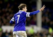 <p>Jelavic scored 21 times for Everton </p>
