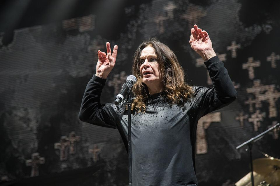 Ozzy Osbourne of Black Sabbath performs during night one of Ozzfest meets Knotfest at San Manuel Amphitheater on Saturday, Sept. 24, 2016, in San Bernardino, Calif. (Photo by Amy Harris/Invision/AP)