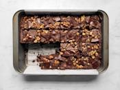 """The kids at this picnic will never know they're eating their vegetables when they grab one of these squares. Neither will the adults. <a href=""""https://www.epicurious.com/recipes/food/views/chocolate-zucchini-cake-907?mbid=synd_yahoo_rss"""" rel=""""nofollow noopener"""" target=""""_blank"""" data-ylk=""""slk:See recipe."""" class=""""link rapid-noclick-resp"""">See recipe.</a>"""