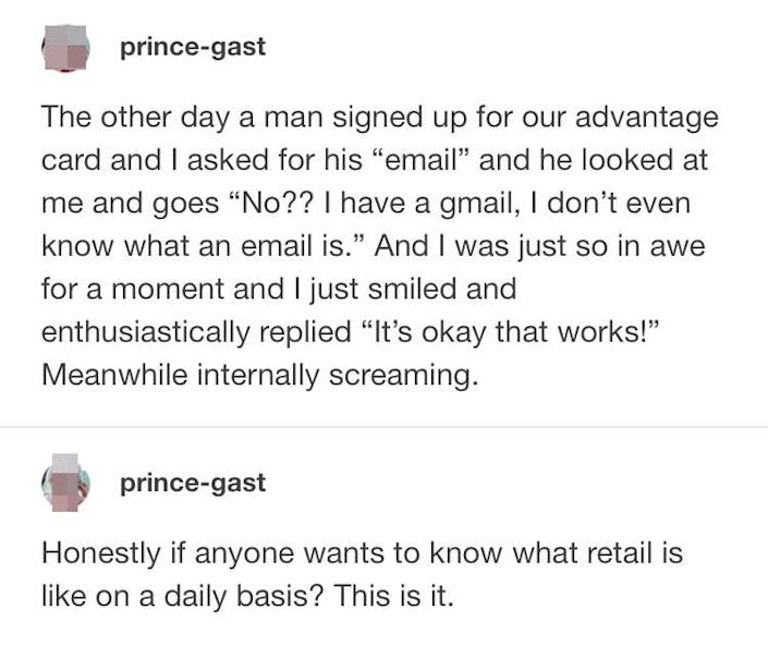 customer not knowinig what email is