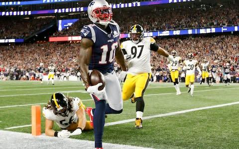 <span>Josh Gordon finds the end zone for a 44-yard score against the Pittsburgh Steelers</span> <span>Credit: USA Today </span>