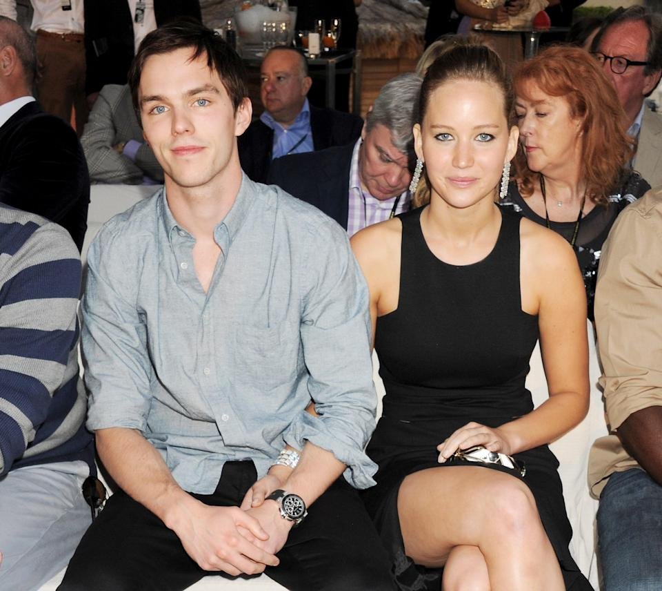 "Working with your ex can't be easy, but Jennifer Lawrence and Nicholas Hoult are professionals. After breaking up in 2014 following four years of dating, they continued to act alongside each other in the <em>X-Men</em> franchise, during whose filming they first met. Some speculated that J.Law's rise to stardom contributed to their split, but <a href=""https://www.eonline.com/news/1012050/how-true-love-helped-jennifer-lawrence-believe-in-marriage-again"" rel=""nofollow noopener"" target=""_blank"" data-ylk=""slk:Hoult has insisted"" class=""link rapid-noclick-resp"">Hoult has insisted</a> that her success was ""well deserved."""