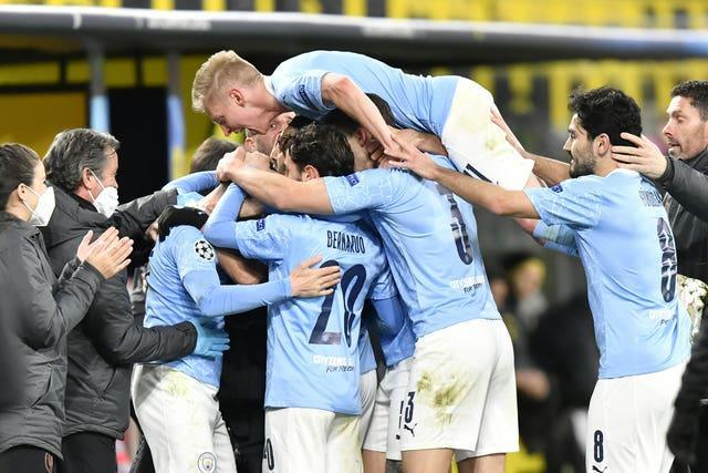 City enjoyed a memorable win over Dortmund in midweek