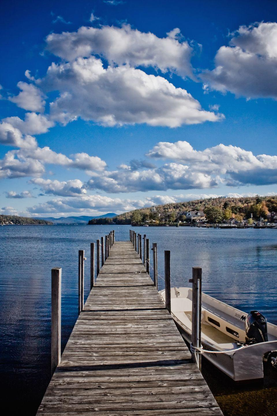 """<p>Life revolves around the mirror-like Lake Winnipesaukee in this laid-back town. Resorts dot the shores, giving residents a good excuse to play tourist for the day. However, the most fun way to explore might be the <a href=""""http://www.hoborr.com/winni.html"""" rel=""""nofollow noopener"""" target=""""_blank"""" data-ylk=""""slk:Winnipesaukee Scenic Railroad"""" class=""""link rapid-noclick-resp"""">Winnipesaukee Scenic Railroad</a>.</p><p><a href=""""https://www.housebeautiful.com/design-inspiration/celebrity-homes/a5286/bette-davis-butternut-farm/"""" rel=""""nofollow noopener"""" target=""""_blank"""" data-ylk=""""slk:Rent Bette Davis' New Hampshire farm »"""" class=""""link rapid-noclick-resp""""><em>Rent Bette Davis' New Hampshire farm »</em></a></p>"""