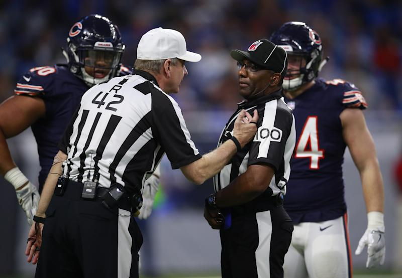 NFL officials will now be enforcing a strengthened targeting rule. (AP)